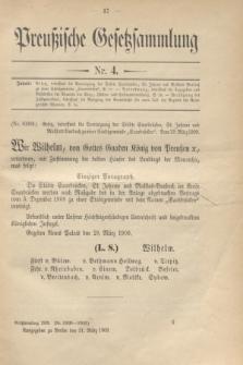 Preußische Gesetzsammlung. 1909, Nr. 4 (31 März)