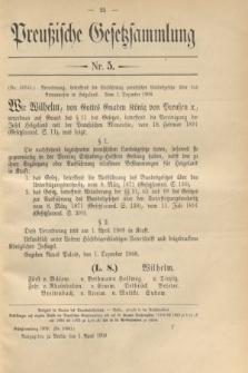 Preußische Gesetzsammlung. 1909, Nr. 5 (1 April)