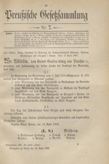 Preußische Gesetzsammlung. 1909, Nr. 7 (29 April)