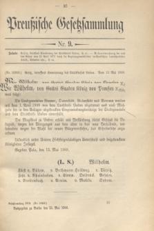 Preußische Gesetzsammlung. 1909, Nr. 9 (21 Mai)
