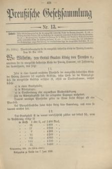 Preußische Gesetzsammlung. 1909, Nr. 13 (7 Juni)