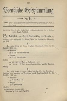 Preußische Gesetzsammlung. 1909, Nr. 14 (8 Juni)