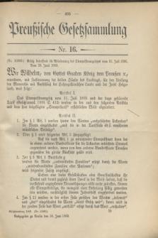 Preußische Gesetzsammlung. 1909, Nr. 16 (30 Juni)