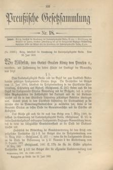 Preußische Gesetzsammlung. 1909, Nr. 18 (30 Juni)
