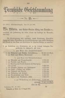 Preußische Gesetzsammlung. 1909, Nr. 25 (13 August)