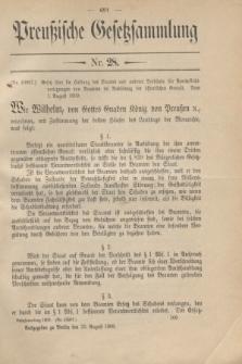 Preußische Gesetzsammlung. 1909, Nr. 28 (23 August)