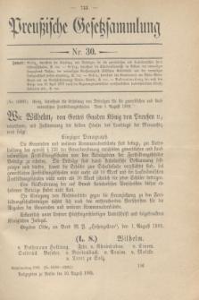 Preußische Gesetzsammlung. 1909, Nr. 30 (30 August)