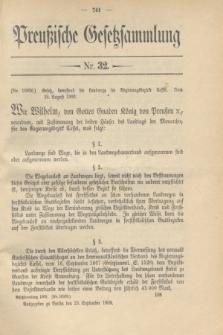 Preußische Gesetzsammlung. 1909, Nr. 32 (23 September)