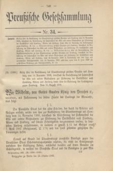 Preußische Gesetzsammlung. 1909, Nr. 34 (25 Oktober)