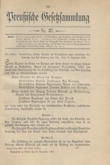 Preußische Gesetzsammlung. 1909, Nr. 37 (30 November)
