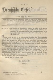 Preußische Gesetzsammlung. 1910, Nr. 2 (29 Januar)