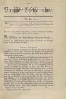Preußische Gesetzsammlung. 1910, Nr. 24 (5 August)