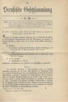 Preußische Gesetzsammlung. 1910, Nr. 36 (17 November)