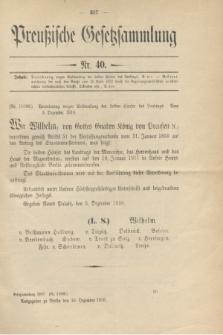 Preußische Gesetzsammlung. 1910, Nr. 40 (16 Dezember)