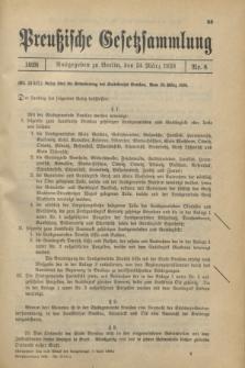 Preußische Gesetzsammlung. 1928, Nr. 8 (24 März)
