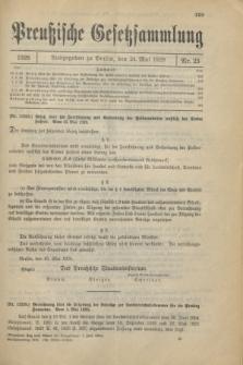 Preußische Gesetzsammlung. 1928, Nr. 25 (24 Mai)