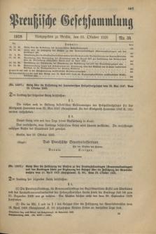 Preußische Gesetzsammlung. 1928, Nr. 34 (31 Oktober)