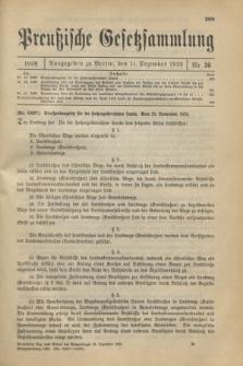 Preußische Gesetzsammlung. 1928, Nr. 36 (11 Dezember)