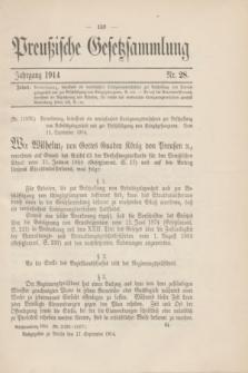 Preußische Gesetzsammlung. 1914, Nr. 28 (17 September)