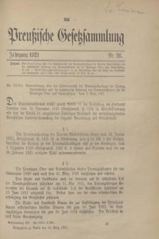 Preußische Gesetzsammlung. 1921, Nr. 26 (18 März)