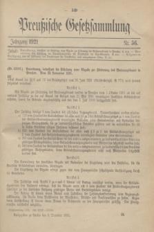 Preußische Gesetzsammlung. 1921, Nr. 56 (3 Dezember)