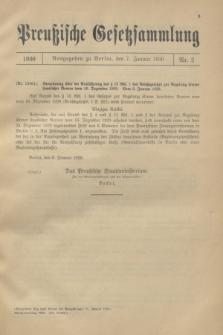 Preußische Gesetzsammlung. 1930, Nr. 2 (7 Januar)