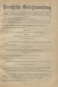 Preußische Gesetzsammlung. 1930, Nr. 5 (25 Februar)