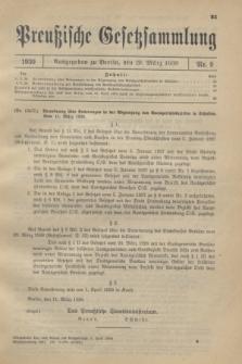 Preußische Gesetzsammlung. 1930, Nr. 9 (20 März)