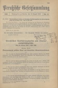Preußische Gesetzsammlung. 1930, Nr. 28 (16 August)