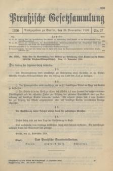 Preußische Gesetzsammlung. 1930, Nr. 37 (28 November)