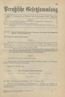 Preußische Gesetzsammlung. 1930, Nr. 39 (13 Dezember)
