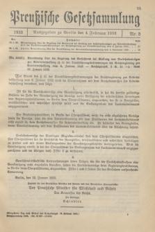 Preußische Gesetzsammlung. 1933, Nr. 5 (4 Februar)