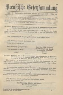 Preußische Gesetzsammlung. 1933, Nr. 10 (22 Februar)