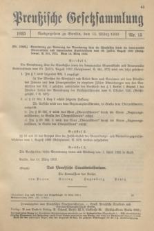 Preußische Gesetzsammlung. 1933, Nr. 15 (15 März)