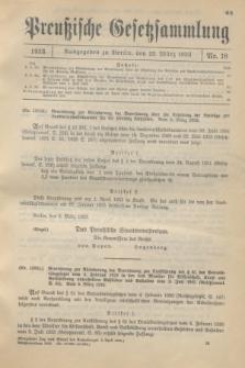 Preußische Gesetzsammlung. 1933, Nr. 18 (23 März)