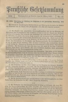 Preußische Gesetzsammlung. 1933, Nr. 19 (24 März)