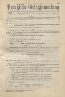 Preußische Gesetzsammlung. 1933, Nr. 32 (8 Mai)