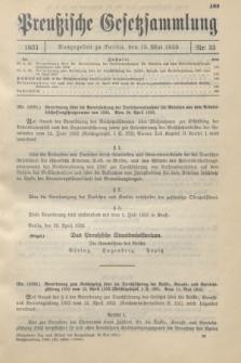 Preußische Gesetzsammlung. 1933, Nr. 33 (15 Mai)