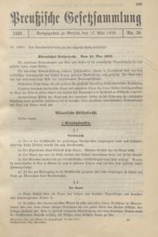 Preußische Gesetzsammlung. 1933, Nr. 34 (17 Mai)