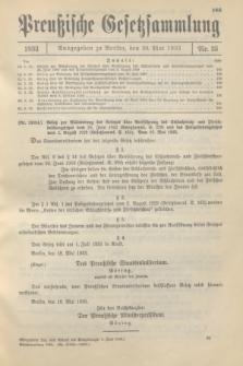 Preußische Gesetzsammlung. 1933, Nr. 35 (26 Mai)