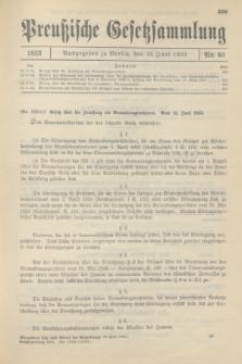 Preußische Gesetzsammlung. 1933, Nr. 40 (16 Juni)