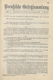 Preußische Gesetzsammlung. 1933, Nr. 43 (26 Juni)