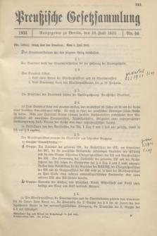 Preußische Gesetzsammlung. 1933, Nr. 46 (10 Juli)