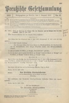 Preußische Gesetzsammlung. 1933, Nr. 52 (7 August)