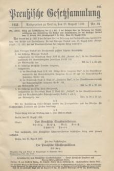 Preußische Gesetzsammlung. 1933, Nr. 54 (27 August)