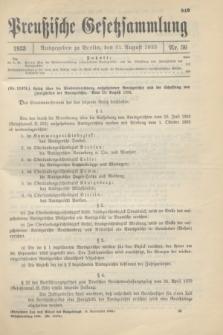 Preußische Gesetzsammlung. 1933, Nr. 56 (31 August)