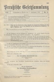 Preußische Gesetzsammlung. 1933, Nr. 58 (11 September)