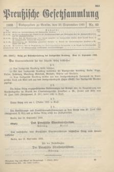 Preußische Gesetzsammlung. 1933, Nr. 60 (23 September)