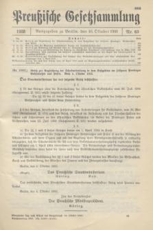 Preußische Gesetzsammlung. 1933, Nr. 63 (10 Oktober)