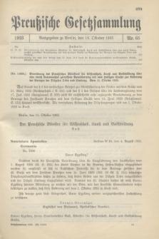 Preußische Gesetzsammlung. 1933, Nr. 65 (18 Oktober)